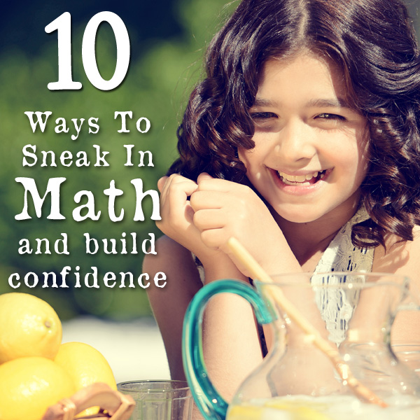 Math can be a struggle for many kids, but with a little creativity you can sneak in math concepts and practice to build a firm foundation for math mastery.