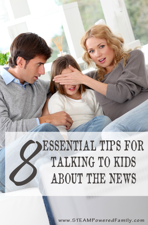 When the news is packed full of terrifying images and stories, help children with these 8 tips for talking to kids about the news. (Trauma and anxiety)