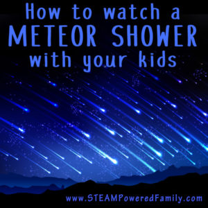 Top 10 tips on how to watch a meteor shower with your kids. These intense nights filled with meteors (aka shooting stars) are captivating for all ages.