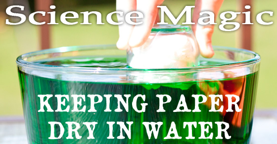 Keep paper dry in water with science magic! Can you keep paper dry in water, even when it's completely submerged? You can if you understand the science in this magic meets science water project.