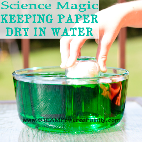 Can you keep paper dry in water, even when it's completely submerged? You can if you understand the science in this magic meets science water project.