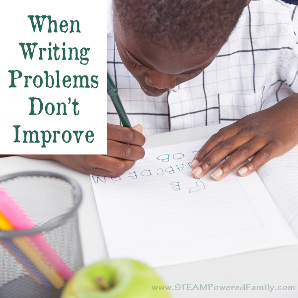 When writing problems don't improve