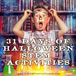 Love Halloween? Love STEM? Celebrate the countdown to Halloween with our 31 Days of Halloween STEM Activities. A little Halloween STEM for every day!