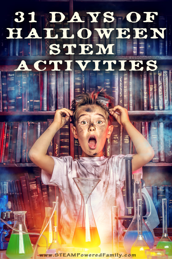 Love Halloween? Love STEM? Celebrate the countdown to Halloween with our 31 Days of Halloween STEM Activities. A little Halloween STEM for every day! #Halloween #STEMActivities #STEMActivity #STEMChallenges