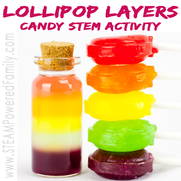 Layered Lollipops uses candy in a beautiful candy stem challenge