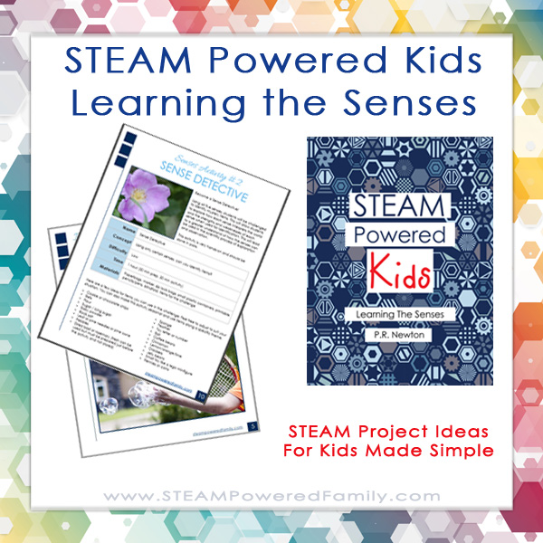 STEAM Powered Kids - Learning the Senses is a professionally designed educators book making STEAM lessons fun, easy, engaging and effective. Book #1