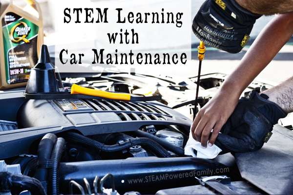 Take your STEM lessons out of the classroom with car maintenance, a fantastic real world STEM project with life skills. STEM Learning with Car Maintenance.