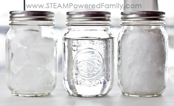 Snow Ice Simple Science is an experiment all ages can do and teaches valuable lessons about the molecular structure of water in ice form versus snowflake.