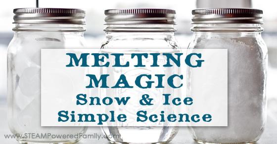 Melting Magic ~ Snow Ice Simple Science