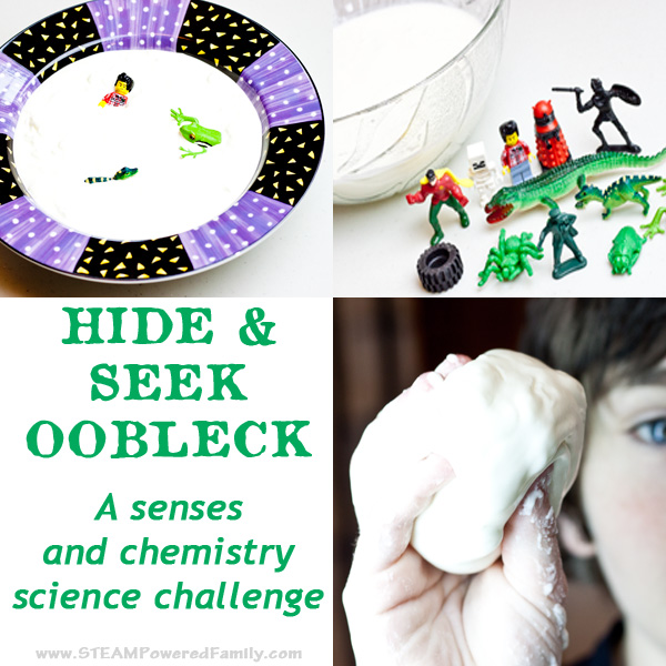 hide and seek oobleck science challenge