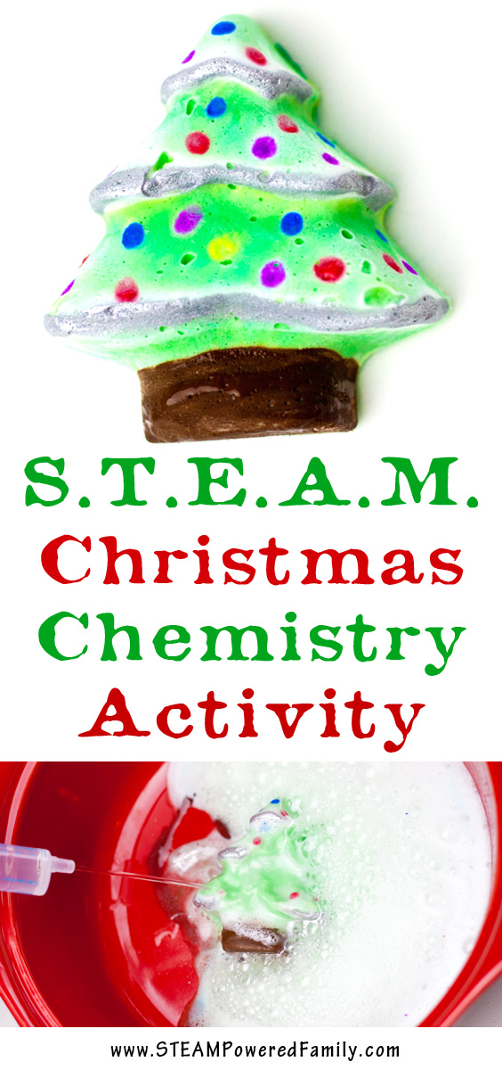 A STEAM Christmas activity that incorporates some art with chemistry for some fantastic hands-on learning.