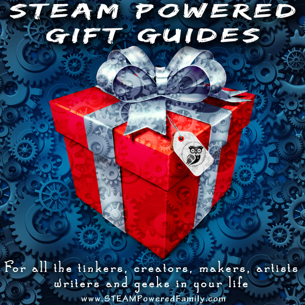 STEAM Powered Gift Guides - From tinkers to makers to creators and artists, young scientists, writers and even blacksmiths, packed with unique gift ideas.