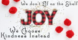 We Don't Elf On The Shelf, We Choose Kindness Instead
