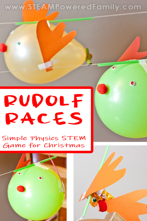 Rudolf Races Christmas STEM Game
