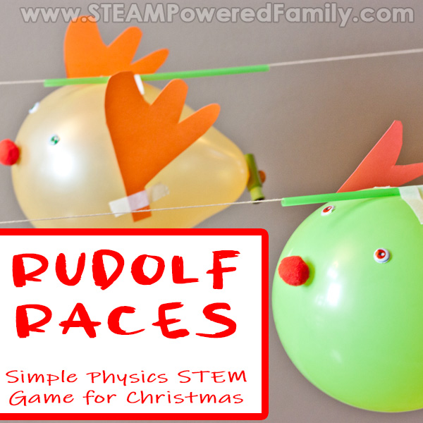 Rudolf Races Balloon Physics Christmas STEM