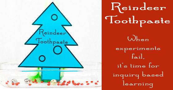 Reindeer Toothpaste – Chemistry For Kids With A Surprise Result