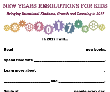 graphic regarding New Year Resolution Printable named Refreshing A long time Resolutions for Youngsters - Bringing intentional