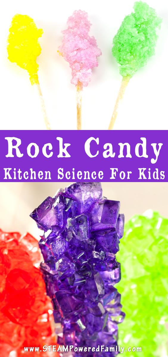 Want a way to get kids really excited about supersaturated solutions? Challenge them to some kitchen science with rock candy making!