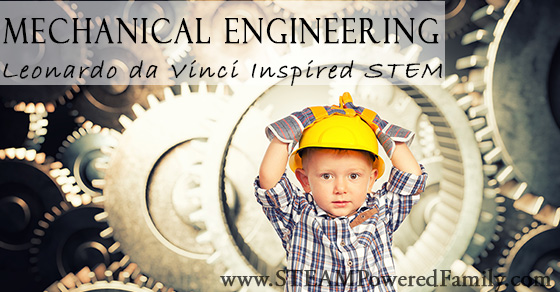 Mechanical engineering for kids: the study of machines is a stem activity perfect for kids who want to discover how things work, just like Leonardo da Vinci