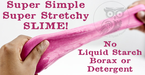 Finally! A way to make slime that really works! No liquid starch, no borax, no detergent. Super simple, and super stretchy! Ours stretched over 40 feet!