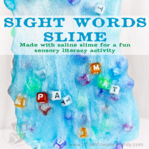 Sight Words Slime - Saline Slime Sensory Literacy Activity