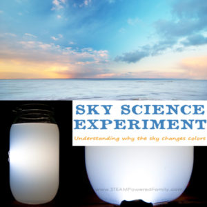 Sky Science is a simple experiment that answers one of childhoods biggest questions - Why is the sky blue and why does the sky change colors at sunset?