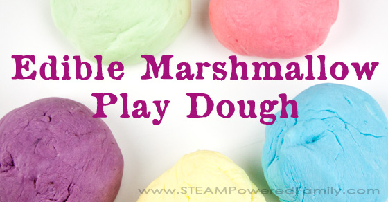 Taste Safe Marshmallow Play Dough
