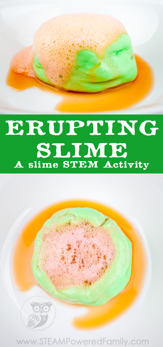 Erupting Slime - A Saline Slime STEM Activity No Liquid Starch, Borax or Detergent