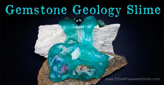 Geology Gemstone Slime – Hands on learning with slime