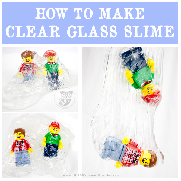 How to make crystal clear glass slime using a saline slime base recipe.