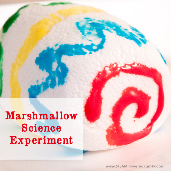 This simple marshmallow science experiment is an engaging STEAM activity for elementary. Learn a little science and a little art, then eat the results!