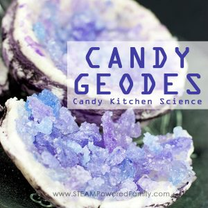 Gorgeous and delicious Candy Geode Kitchen Science