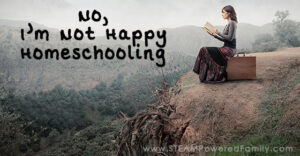 When asked I couldn't pretend anymore. I couldn't fake enthusiasm. Because the cold hard truth of the matter is that I'm not happy homeschooling.