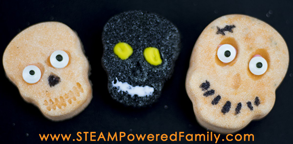 Pressed Sugar Candy Halloween STEAM Activity - this fun and easy activity is sure to be a hit at your next Halloween science session. Chemistry + art = fun!