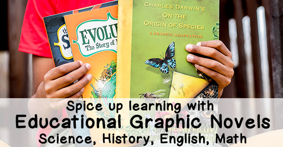 Fun Learning With Educational Graphic Novels – Science, History, English & Math