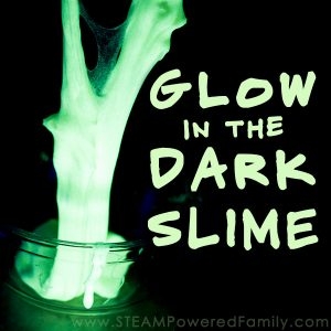 Glow in the dark slime - an easy recipe with amazing results! Perfect for an after dark party or a fun new twist to sensory play time.