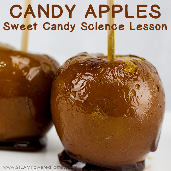 Candy Apples are a traditional treat and the perfect addition to our study into the science behind candy making. Learn science, chemistry, math and more.