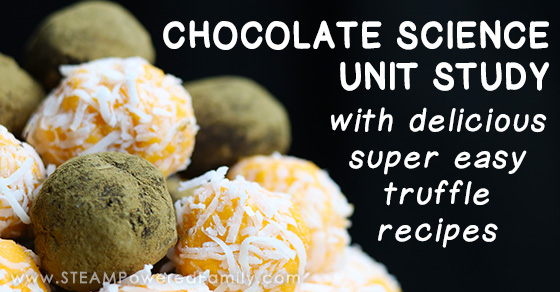 Chocolate Science Unit Study with Delicious Truffle Recipes