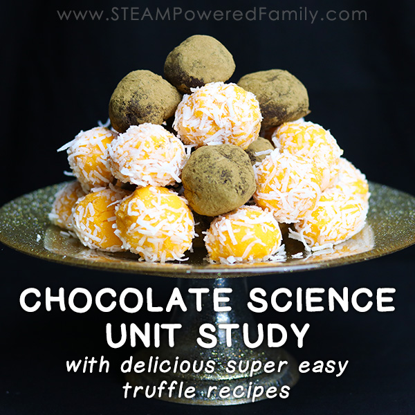 This massive resource on Chocolate Science, perfect for a unit study. Dive into hands on chocolate science with deliciously, simple truffle recipes.
