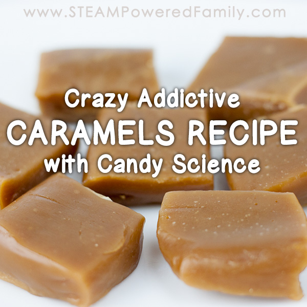Let's talk caramels now in our candy science learning journey! These sweet treats are chewy, melt-in-your-mouth, and crazy addictive.