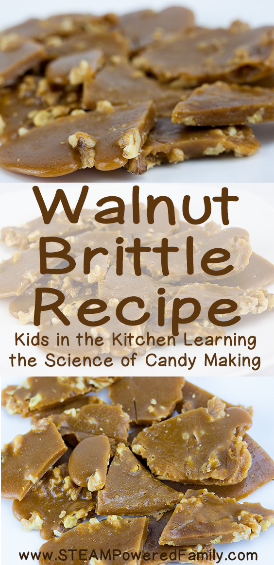 Walnut brittle is the next recipe we tackled in our study of the science behind candy making. Learn science, chemistry, math and more while making candy!