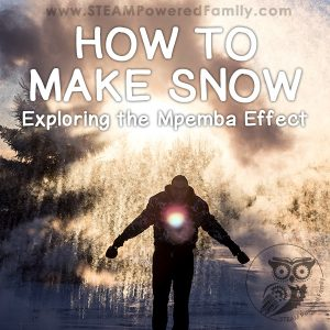 How to Make Snow and explore a cool property of water called the Mpemba Effect. It uses a little bit of science, a little bit of hot water, and a whole lot of cold to make this spectacular snow storm happen like magic.