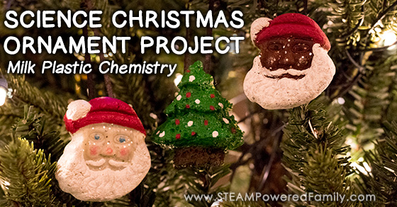 Science Christmas Ornament Project – Milk Plastic Chemistry