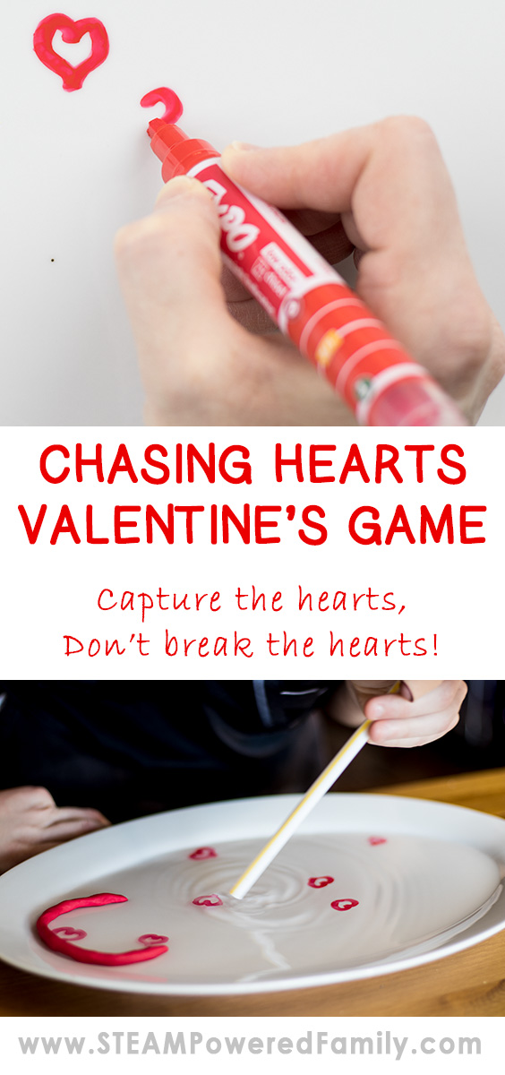 "Chasing Hearts Valentine's Game is a fun challenge that has a science twist. Students will love watching the ""magic"" as their hearts lift and start to drift away. But using a little physics you can capture your hearts."