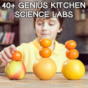 40+ Genius kitchen science lab projects for kids that will inspire kids, spark curiosity, promote healthy living, and build scientific knowledge. With projects from preschool through middle school, there is something here for everything to help cook up some amazing learning experiences.