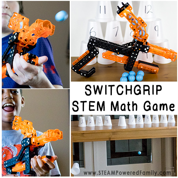 The Switchgrip Math Game - a mechanical engineering and math STEM challenge