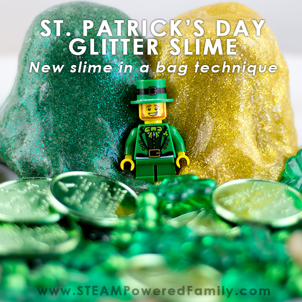 St. Patrick's Day Slime and play time