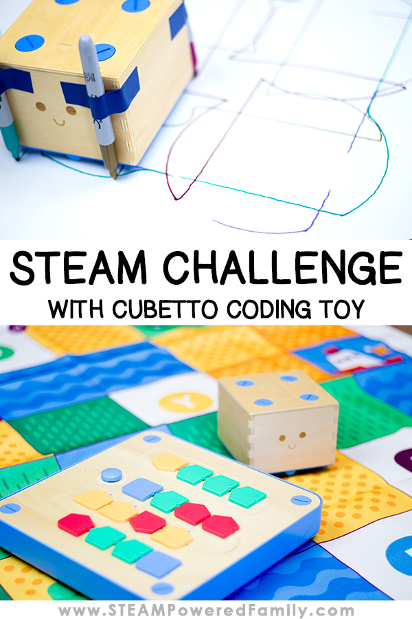 Cubetto is a coding toy designed for 3 to 6 year olds but with a little imagination we created some really challenging STEAM challenges using Cubetto that kept my tween enthralled and jumping with excitement! Embracing Technology, Engineering, Arts and Math make this an incredible challenge to learn coding and more.