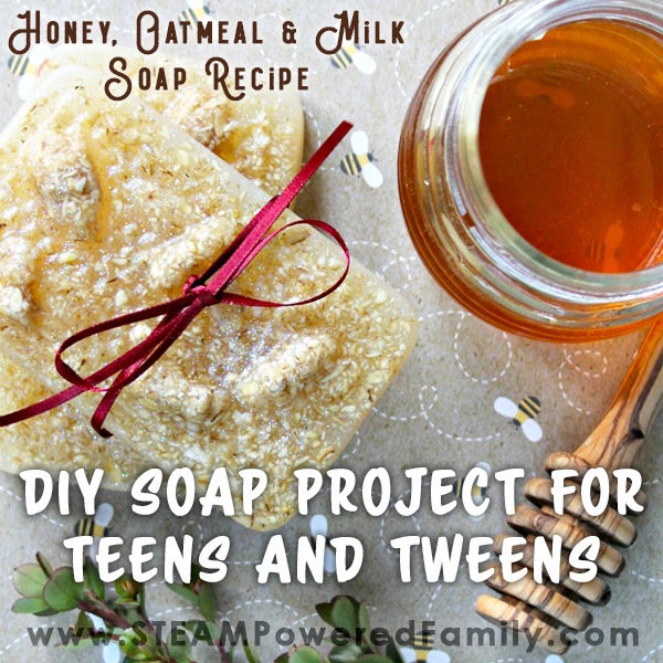 DIY soap making recipe that is suitable for teens and tweens