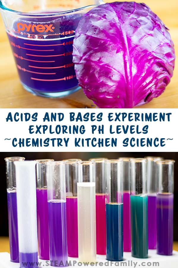 Using items from the kitchen this fascinating experiment explores Acids and Bases and pH Levels. Kids will love digging through the pantry to test out whether items are an acid or a base, and explore pH levels of every day items. An excellent elementary experiment for hands on with science with lots of further studies.